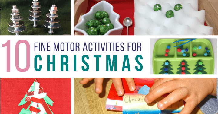Fine Motor Activities for Christmas and Winter