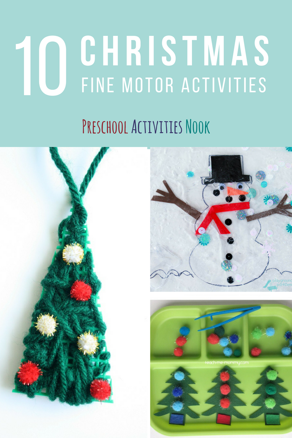 This year try these fine motor activities for Christmas with your preschoolers to help them learn and grow through the holidays.