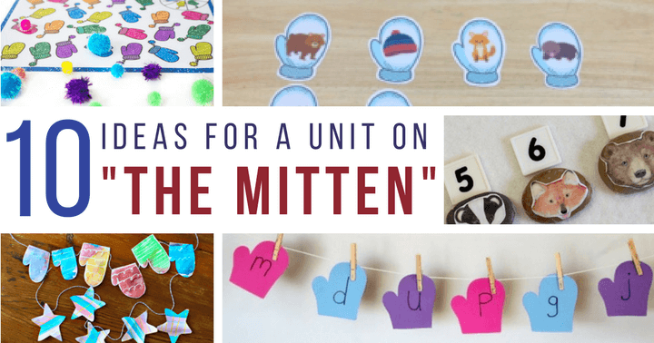 """""""The Mitten Activities for preschoolers to your winter learning time with a list of ideas for fine motor work, art projects, and learning idea."""