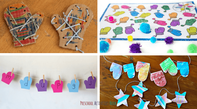 The Mitten Activities for preschoolers to your winter learning time with a list of ideas for fine motor work, art projects, and learning idea.
