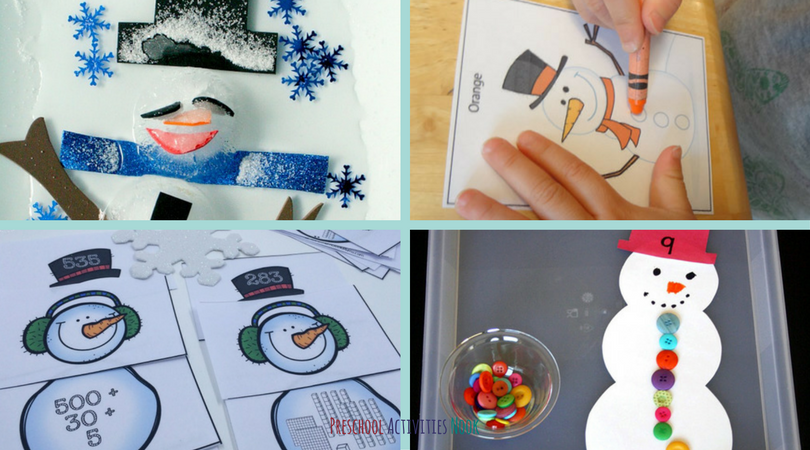 This group of resources includes snowman themed printables, snow hands-on activities, and snowman crafts for your child to keep learning this winter. Take a look at this list of snowman activities for preschoolers!