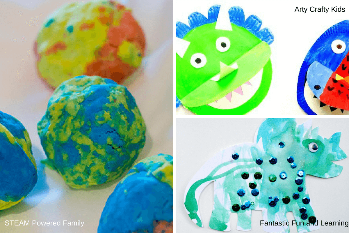 Fun kids crafts about dinosaurs