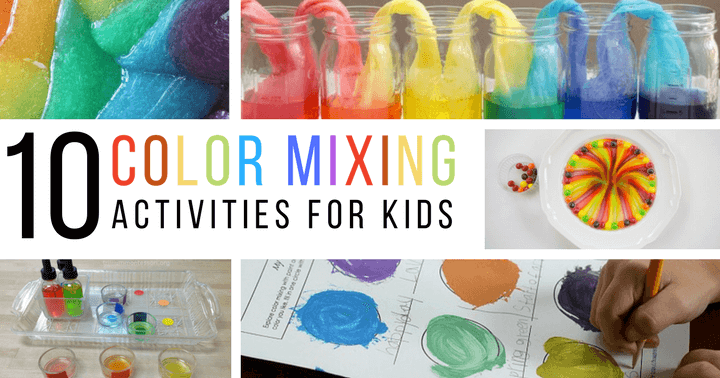 Color mixing and rainbow activities for preschoolers and kindergarteners
