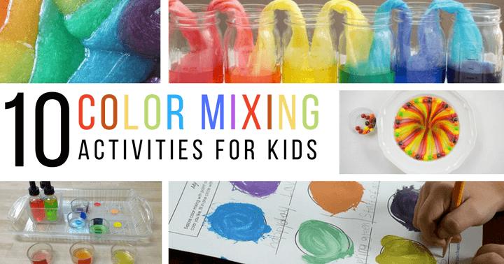 Color mixing and rainbow activities for preschoolers and kindergarteners