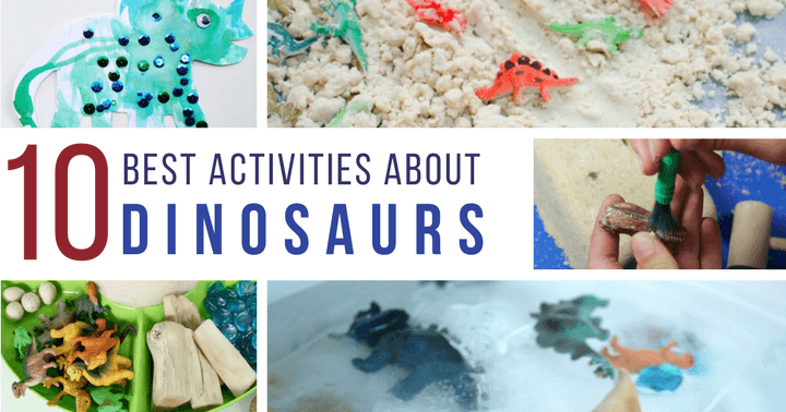 Dinosars for toddlers and preschoolers. Try these fun activities with your kids.