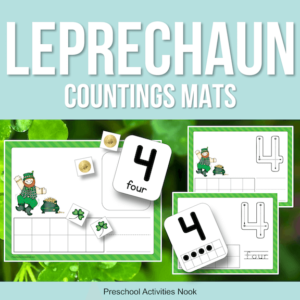 Leprechaun St Patricks Day Counting Mats