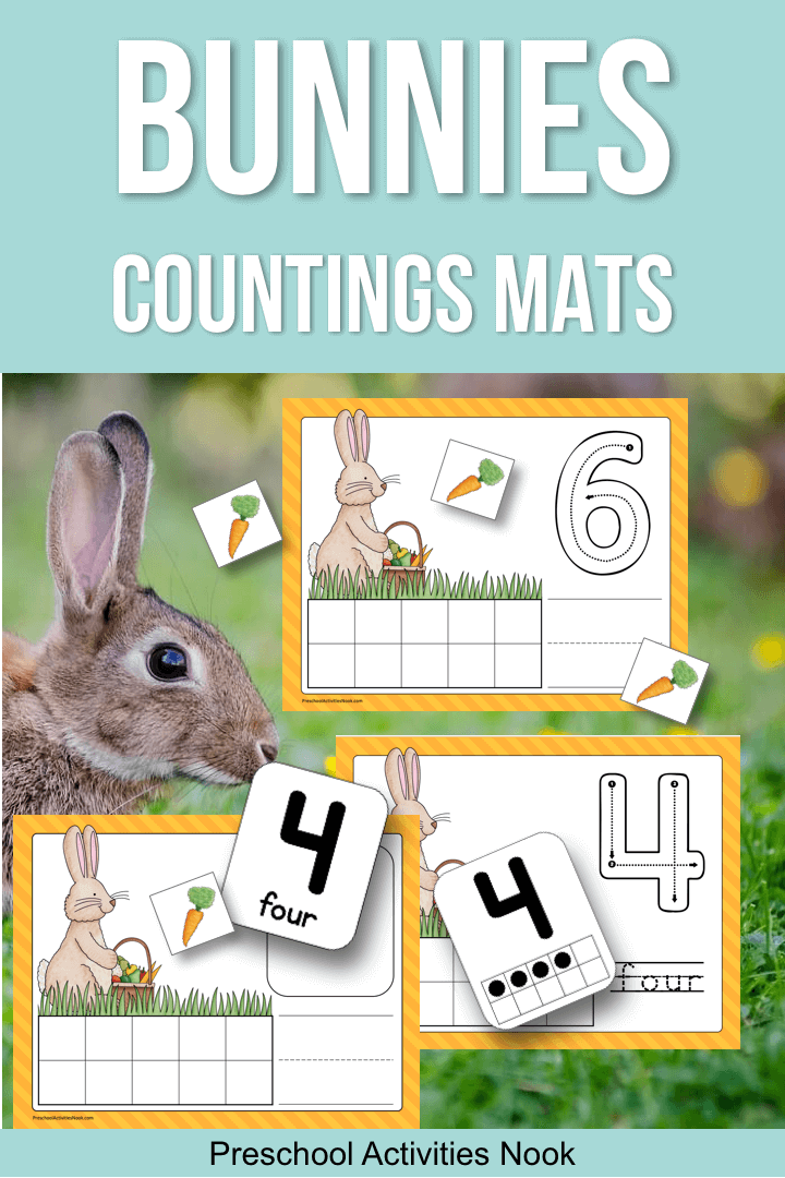 If Youre Focusing On These Cute Furry Animals This Season Add Free Printable To Your Math Or Play Dough Centers For Some Bunny Counting Fun