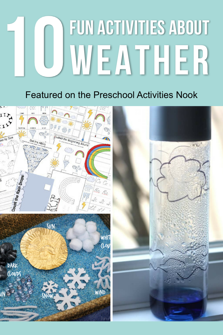 Fun hands on activities for preschoolers to learn about the weather