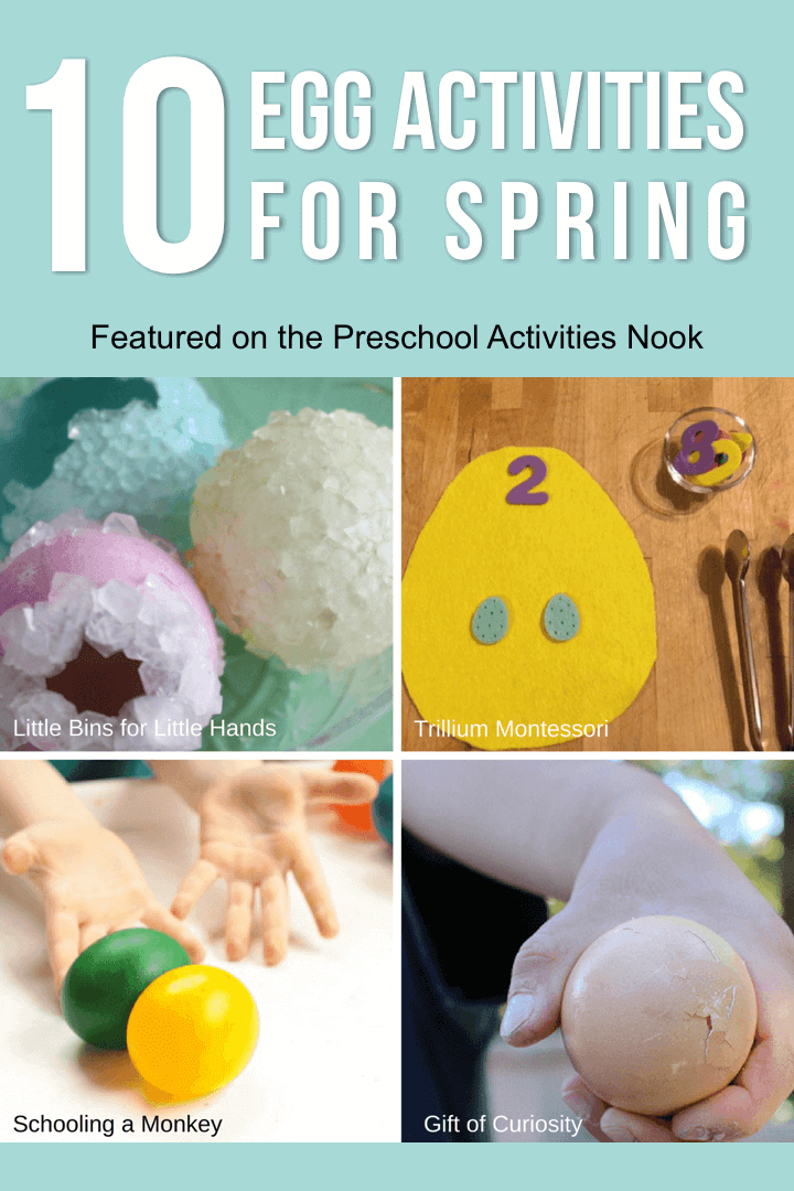 Egg Activities for Spring- great for preschool and Montessori