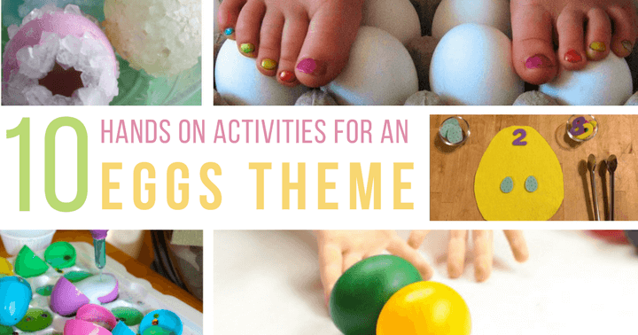 Hands on egg activities for spring with your kids.