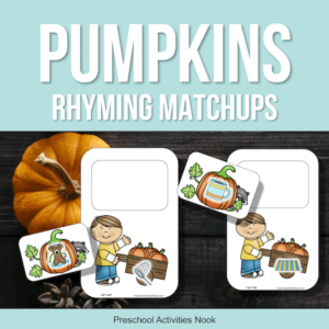 Pumpkin theme rhyming printables