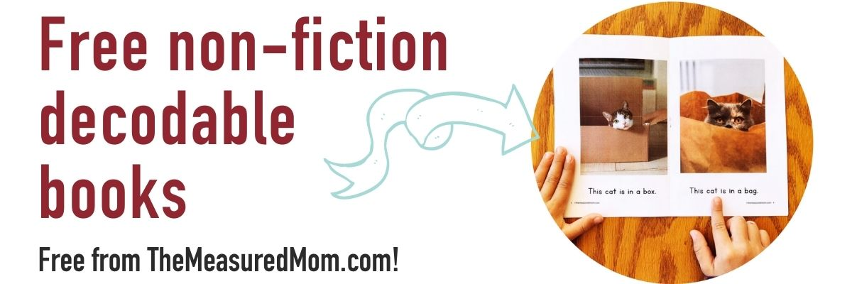 Non-fiction decodable books Free Download from Measured Mom