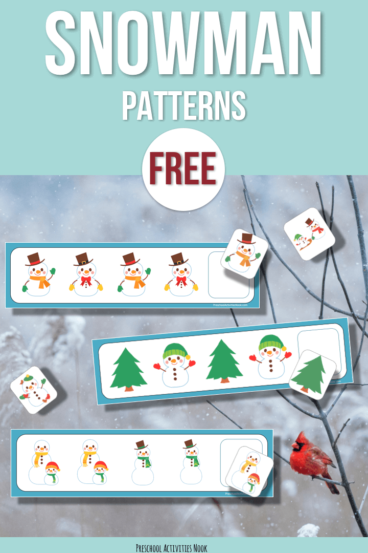 image about Snowman Patterns Printable named Free of charge: Snowman Styles - Preschool Things to do Nook