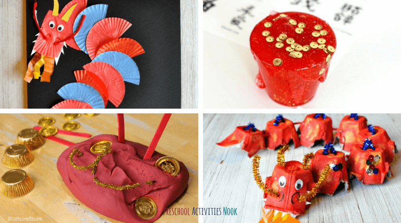 Celebrate with these Chinese New Year Activities for preschoolers! Craft dragons and Chinese lanterns with kids as a way to learn about Chinese culture.