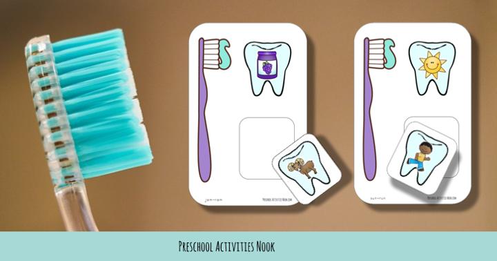 Free Dental Health Month Rhyming Matchups