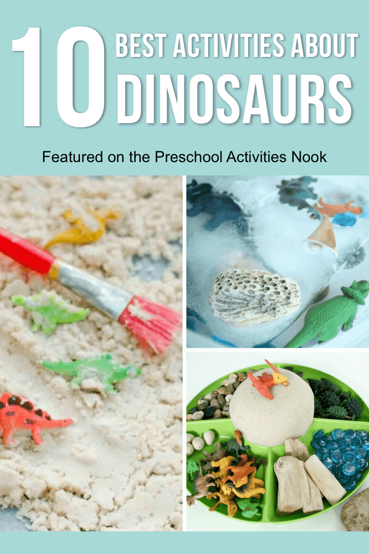 Great ideas for a preschool unit about dinosaurs