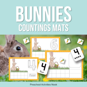 Easter Bunny and Carrot Counting Mats
