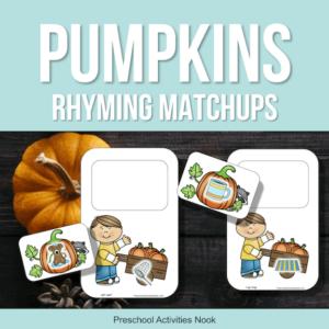 Pumpkin theme rhyming printables